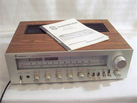 VINTAGE 1970's SHERWOOD MODEL S-7650 AM/FM SOLID STATE STEREO RECEIVER