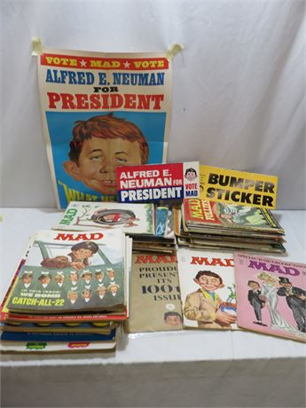 Vintage 1960s & 70s MAD Magazine Collection