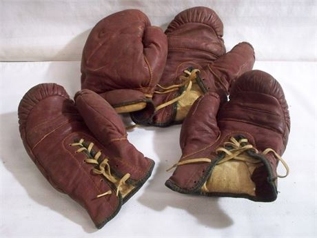 2 PAIR OF VINTAGE BOXING GLOVES