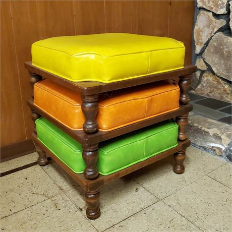 Mid Century Stacking Foot Stools