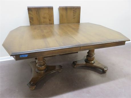 ETHAN ALLEN Double Pedestal Dining Table