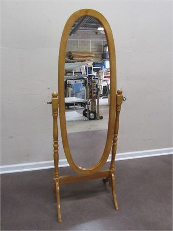 FULL LENGTH CHEVAL OVAL MIRROR