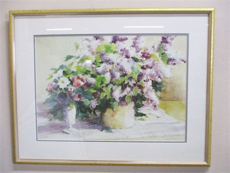 """""""LILACS"""" BY CAROL TEILHET #8/475, SIGNED BY ARTIST"""
