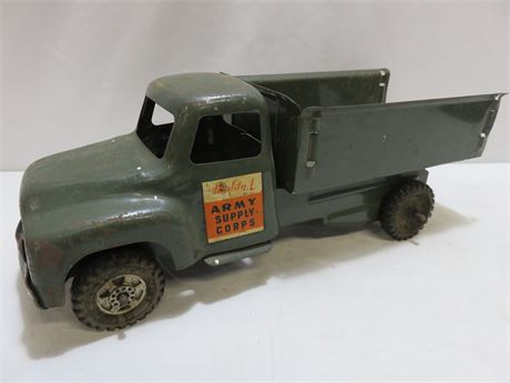 Vintage 1950s BUDDY L Army Supply Corps. Truck