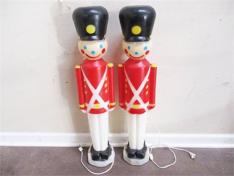 LOT OF 2 VINTAGE TOY SOLDIER BLOW MOLDS