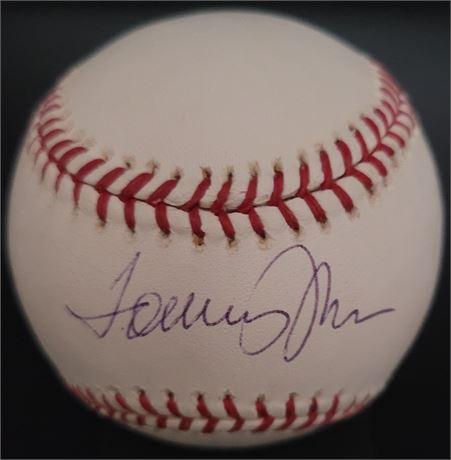 Tommy John Signed MLB Licensed Baseball Cleveland Indians New York Yankees