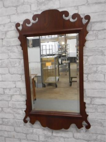 VINTAGE BEVELED GLASS MIRROR