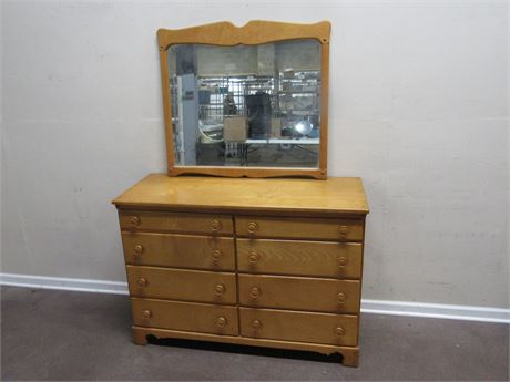 VINTAGE DRESSER FROM HALLE'S WITH MIRROR