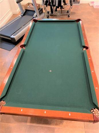 Great Looking Brunswick Contender 8' Slate Pool Table