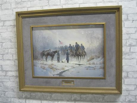 G. HARVEY - PICKETS REPORT (#605/1800) - FRAMED AND MATTED