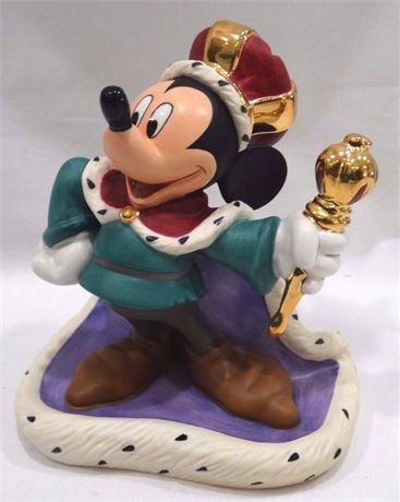 """1998 Mickey Mouse """"Long Live The King"""" Figurine"""