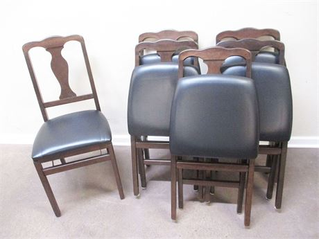 LOT OF 6 STAKMOR FOLDING CHAIRS