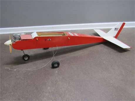 Vintage Gas/RC Plane and Parts - For Parts or Repair