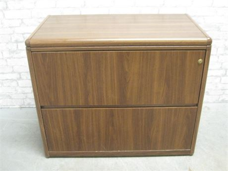 2 DRAWER HORIZONTAL FILE CABINET