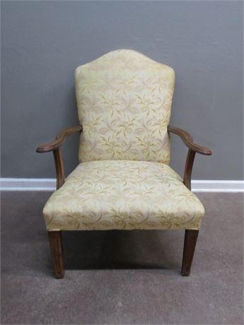 Vintage New England Furniture Shop Upholstered Wood Arm Chair