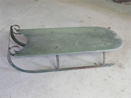 Antique Green Sled