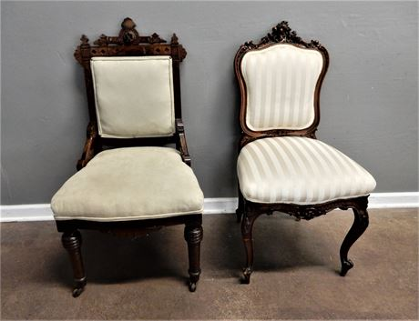 Ornately Carved Antique/Vintage Chairs