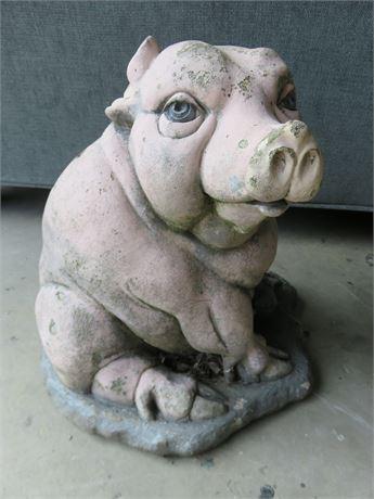 Concrete Pig Garden Statue