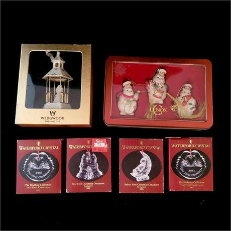 Lenox Waterford Wedgwood Ornaments