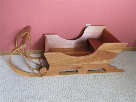 Vintage Style Decorative Wood Sleigh