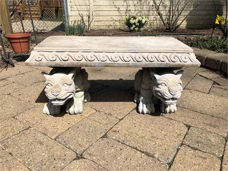 Blair Castle Sculptural Gargoyle Bench