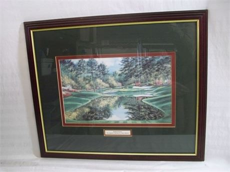 FRAMED AND DOUBLE MATTED THE AUGUSTA COLLECTION REDBUD SIXTEEN - NANCY RABORN
