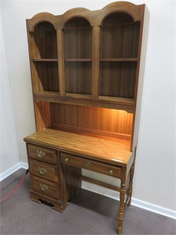 BASSETT Maple Desk & Hutch