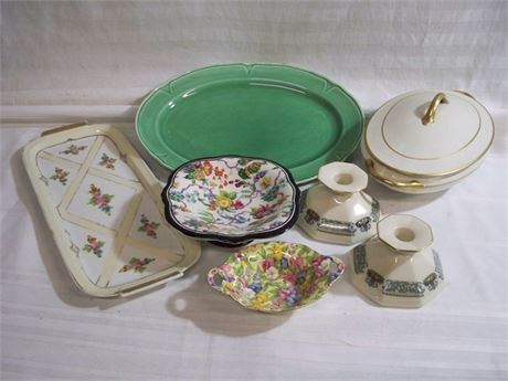 7 PIECE VINTAGE CERAMIC/CHINA LOT