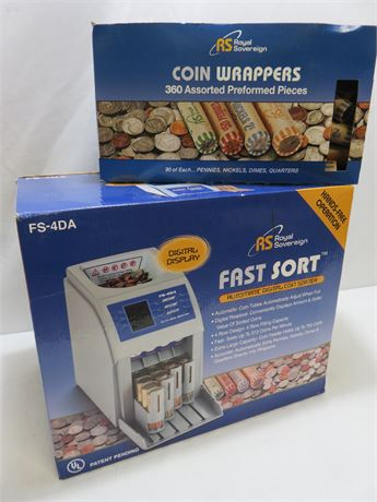 ROYAL SOVEREIGN Fast Sort Electronic Coin Sorter