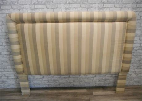 UPHOLSTERED STRIPED KING SIZE HEADBOARD