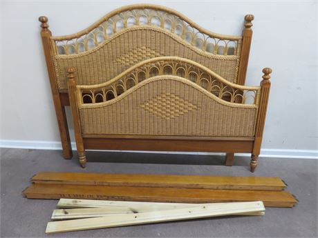 LEXINGTON Henry Link Wicker Panel Queen Bed