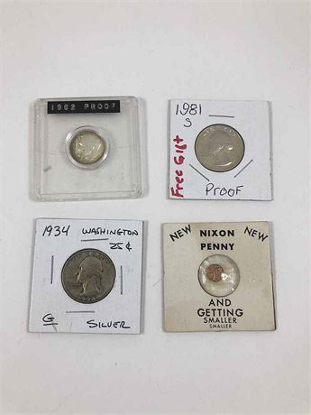 1962 Proof Roosevelt Dime and More