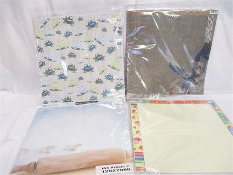 BOX FULL OF SCRAPBOOKING PAPERS