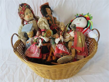 Vintage Handmade Polish Doll Basket