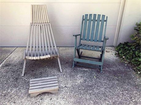 Outdoor Rocker and Lounge Chair
