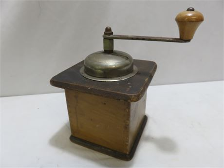 Antique KTM Table Box Coffee Mill Grinder
