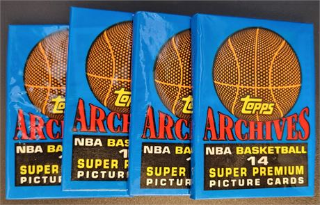 1993 TOPPS ARCHIVES 5 FACTORY SEALED WAX PACK LOT