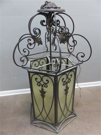 Wrought Iron 9-Light Lantern Chandelier