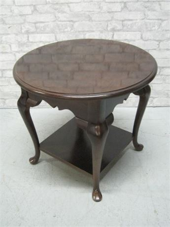 BASSETT END TABLE WITH CABRIOLE LEGS