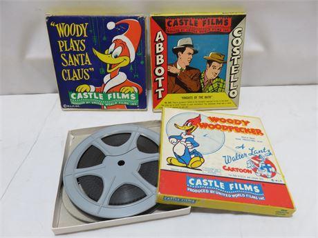 Vintage 8mm Cartoon Film Reels