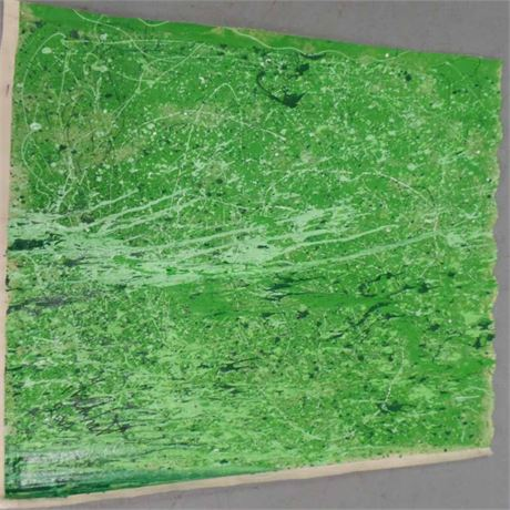 Jet Art Painting - Green square