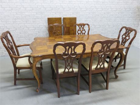 French Provincial Dining Table Set