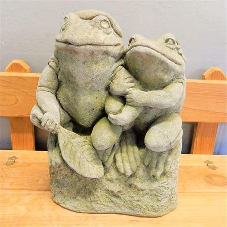 Garden Concrete Frog Couple