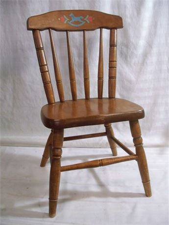 VINTAGE CHILD'S SPINDLE-BACK CHAIR