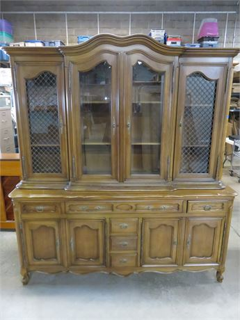 FANCHER FURNITURE French Provincial China Hutch