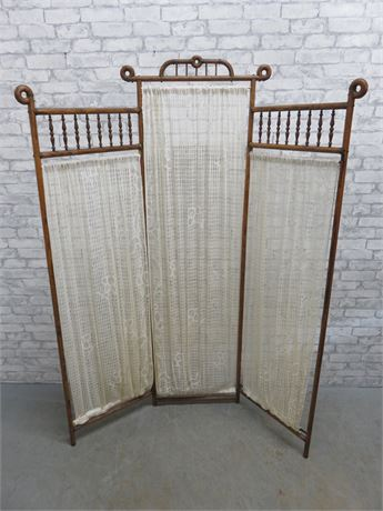 Antique Room Divider Screen