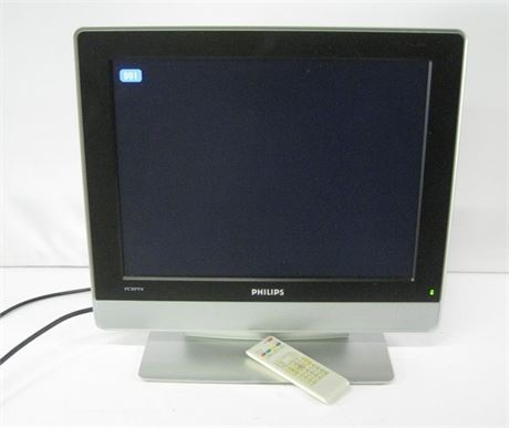 PHILLIPS CRYSTAL CLEAR III LCD FLAT PANEL TV WITH REMOTE AND PC INPUT