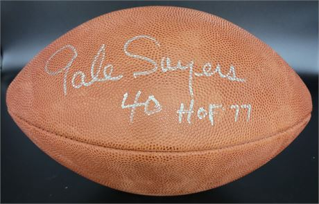 """Gayle Sayers Chicago Bears NFL """"The Duke"""" Officially Licensed Signed Football"""