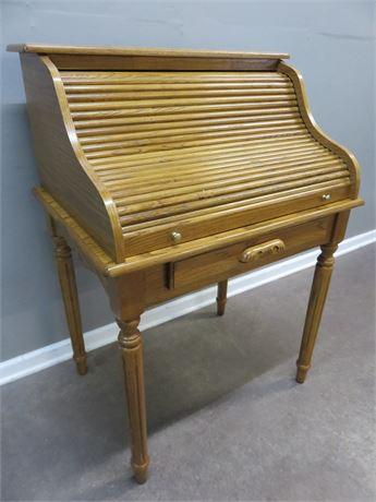 POWELL Oak Rolltop Desk