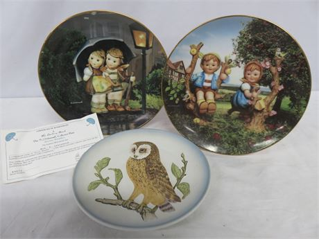 Vintage M.I. HUMMEL Collector Plate 3-Piece Lot